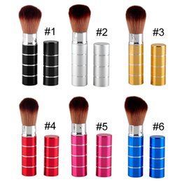 Wholesale Black Blusher - Retractable Makeup Brushes Professional Makeup Tools Brush Retractable Face Powder Blusher Makeup Brushes Make Up Accessories 2805027