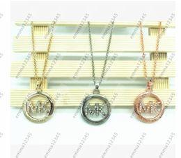 Wholesale Letter Necklace Pendants - 2017 HOT Brand Necklaces letters Pendant High Quality Necklace Gold Chain Popular Fashion Pendant Jewelry