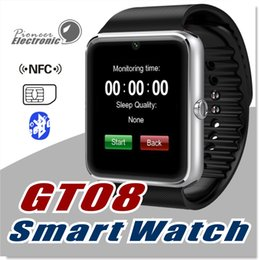 Wholesale wristband sports - GT08 DZ09 Bluetooth Smart Watch Sports Wristband Bracelet Smartwatch with SIM Card Slot and NFC Health U8 Watchs for Android IOS Smartphone