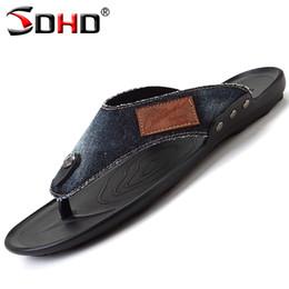 Wholesale slip shoes men cowboy - Wholesale- Flip Flops Men Cowboy Slippers Summer Fashion Beach Sandals Shoes for Men Pantufa Hot Sell Flip Man Sandalias Zapatos hombre