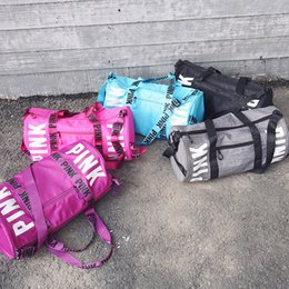 Wholesale Wholesale Luggage Bag - 5 Colors Canvas Secret Storage Bag Pink Duffel Bags Unisex Travel Bag Waterproof Victoria Casual Beach Exercise Luggage Bags freedhl