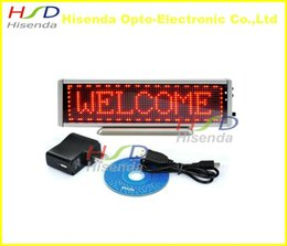 Wholesale Led Programmable Scrolling Message Signs - Red LED scrolling sign message display mini board desk desktop panel advertising  programmable led mini board display screen
