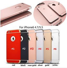 Capa de iphone rosa de ouro on-line-Para iphone 7 case híbrido de luxo robô 3 em 1 fosco armadura pc rose gold casos de corpo inteiro removível divisão magro capa para iphone 6 6 s 7 plus