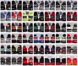 Wholesale Uk Knitting - 100%Cotton latest fashion Beanie Wool Hat USA UK Canada Various brand Winter Beanie Knitted hats Mexico gorro Bonnet Warm cap free shipping