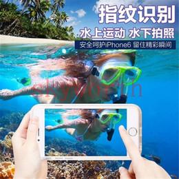 Wholesale Diving Underwater Light - For Iphone 6 6S Plus 4.7 5.5 Waterproof TPU Case Light Up Flash LED Calling Fingerprint Underwater 3 meters Diving Dustproof