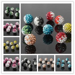 Wholesale Shamballa Supplies - 2-Tone Gradient Shamballa Disco Beads Clay Pave Crystal Rhinestone All Sizes All Colors Charms Statement Jewelry Making Supplies