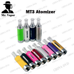 Wholesale E Cigarette Rebuildable Cartomizer - MT3 Clearomizer 2.4ml eVod BCC MT3 Electronic Cigarette rebuildable Atomizer bottom coil tank Cartomizer for EGO EVOD Series E Cigarette