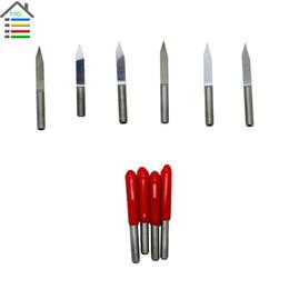 Wholesale Engraving Steel Tool Cnc - 10pcs set 3.175mm Shank 30 Angle 0.1mm Flat Bottom CNC Router Tools Carving Tools V Shape Engraving Cutting Bits PCB Cutters order<$18no tra