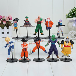 Wholesale Master Roshi Figure - Anime Dragon Ball Z Gohu Master Roshi Piccolo Tenshinhan Gohan Trunks PVC Figure Toys For Kids 10pcs set