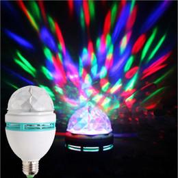 2018 contexto de rideau vidéo Crystal Ball magie LED Effets de lumière Éclairage scénique 3W E27 RGB Rotating Laser Light Party For Disco Bar DJ Mini Styles