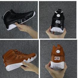 Wholesale Mens Black Leather Gloves - 2017 air Retro 9 IX Men Basketball Shoes Glove brown black Pinnacle Athletics Sneakers Mens Trainers Retros 9s Sport Shoes 8-13