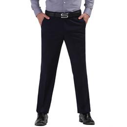 Wholesale Wedding Dress Trousers - Wholesale-Blue Color Men Business Suit Pants Gentleman Dress Pants Male Wedding Pants Working Suit Trousers pantalon costume homme