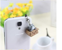 Wholesale Dust Plugs For I Phones - Wholesale-New arrival Cute cat animal lovely cartoon anti Dust Earphone Plug Headset Stopper Cap For i Phone 4 4s 5 cell phone accessories