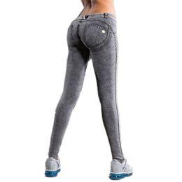 Wholesale Sexy Carry - 2017 Denim Leggings Freddys Cowboy Carry Buttock Sweatpants Denim Elastische Jeans Sexy Push Up Them Fitness Bleistift Hose