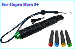 Wholesale Telescoping Poles Wholesale - Aluminum Telescoping Handheld Selfie Pole Extendable Monopod With Mount adapter For Gopro Hero 3+ 3 DHL