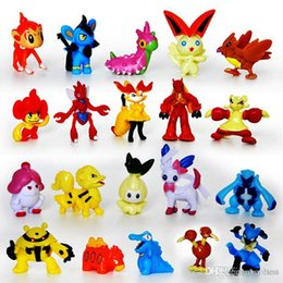 Wholesale Designer Goods - Poke Figures Toys Monster Action Figures 2-3cm Pikachu Eevee Bulbasaur Suicune PVC Mini Model Toys Designer Kids toys