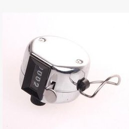 Wholesale Manual Free - DHL Free Shipping 4 Digit Manual Hand Tally Mechanical Palm Click Counter steel Counters With 4 Digit Silver