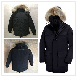 Wholesale Thin Men Size Jackets - 2016 New Men's Goose down jacket Coat Fur Goose Men CITADEL PARka fur jacket and the size of the coat cotton male hooded casual