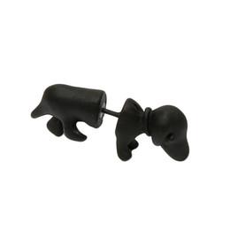 Wholesale Womens Ear Piercings - Wholesale-Fashion Punk Style Cute Mens Womens 3D Puppy Dog Animal Cuff Ear Stud Piercing Earring Drop Shipping