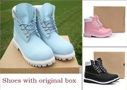 Wholesale Black Boots Inch Heel - 2018 NEW Authentic Brand Motorcycle Boots Men Casual 6-Inch Premium Boots Women Waterproof outdoor Wheat Nubuck boots size 36-46