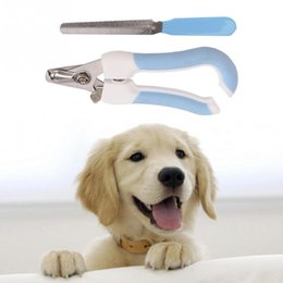 Wholesale Dog Clipper Set - Pets Products Nail Clipper File Set Scissors Pet Grooming Tool Dog Cat Puppy Toe Care Professional Nail Clippers with file