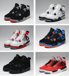 best toro bravo basketball shoes - Wholesale Air Retro 4 Men's Basketball Shoes Cement Fire Red Fear Toro Bravo IV sneaker sports Running Shoes for Sale 4s size us 8-13 41-47
