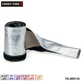 "TANSKY - Telar de cubierta de manguera de alambre aislado con manguito de protección térmica metálica aluminizado (L: 3FT 6FT, ID: 0.75 ""1"" 1.25 "") TK-WR110 desde fabricantes"