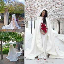 Wholesale Wedding Coats For Women - Elegant High Quality 2017 Bridal Cape For Wedding Dresses Ivory White Winter Fur Coat Wedding Coat Women Wedding Bolero Jacket