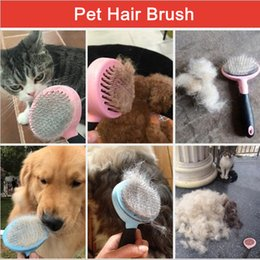 Wholesale Dog Brush Grooming Trimmer - Pet Hair Remover Dog Cat Hair Combs Blue Pink Pets Brush Pet Grooming Tools Good Trimmer Dog Accessories YYA334