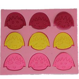 Wholesale Silicone Baking Molds Fondant - Silicone 3D Cake Moulds Cute Sakura Momoko Cartoon Fondant Mold Cookware Bar chocolate sugar craft moule baking molds WHOLESALE