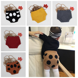 Wholesale Handmade Diapers - Baby Clothes Kids PP Pants Ins Knit Shorts Knitted Crochet Pants Toddler Handmade Briefs Bread Diaper Pants Ins Fashion Winter Leggings D74