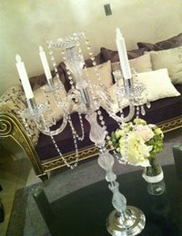 Wholesale Candelabra Centerpieces - the beautiful crystal candle holder home Decorations Crystal Tea Light candelabra and wedding centerpieces