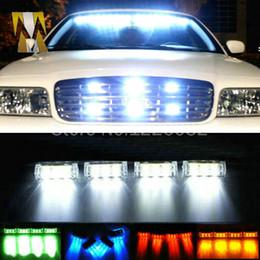 Wholesale Ems Led Strobe Lights - 4x3 led LED Car motorcycle flash light Strobe Flash Warning EMS Truck Light Flashing Firemen Lights DC 12V