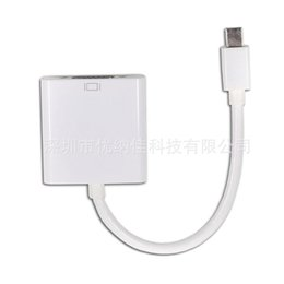 Wholesale Vga Imac - Mini DisplayPort To VGA Mini Display Port DP to VGA Converter Cable Adapter Cable for Mac iMac MacBook Pro