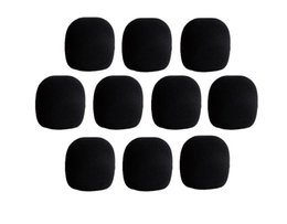 Wholesale Grill Pieces - 10 Pieces Black Microphone Foam Cover Mic Grill Windshield Windscreen for Handheld Microphone