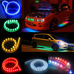 Wholesale led strips for motorcycles - Super Bright LED Light Strip White 24cm 48cm 72cm 96cm 120cm PVC Flexible LED Strip Light Waterproof For Car Motorcycle