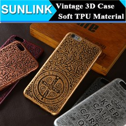 Wholesale Iphone Keep - Retro Vintage Cross Keep Calm 3D Embossing Case Soft TPU Gel Back Cover for iPhone 6 6s Plus 5 5s se Samsung S7 Edge Huawei P9 LG G5