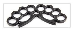 Wholesale Self Defense Brass Knuckles - Silver and Black Thin Steel Brass knuckle dusters,Self Defense Personal Security Women's and Men's self-defense Pendant