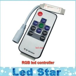 Wholesale Led Controller Connector - DC12V 24V 12A Wireless Mini RF RGB Led Remote Controller With DC Port Connector for Led Strips 5050 free shipping