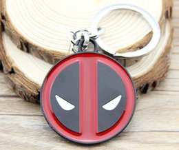 Wholesale 18 Key Jewelry - FC-18 Anime Catoon X-men Deadpool Metal Keychain Pendant Key Chain Chaveiro Stainless Steel Key Ring For Gift Men Jewelry