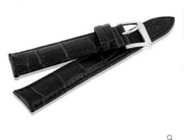 Wholesale Cheap Watchbands - Brand New 24mm Black Genuine Leather Watch Strap Watchbands Cheap Watchbands Cheap Watchbands