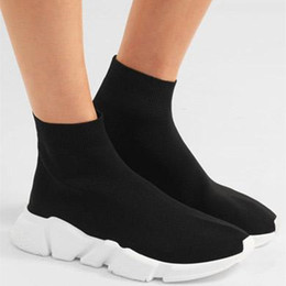 Wholesale Mesh Booties - 2017 new Black Sock Booties Sports Running Shoes,Training Sneakers Shoes,Speed Knit Sock High-Top Training Sneakers US 5-10