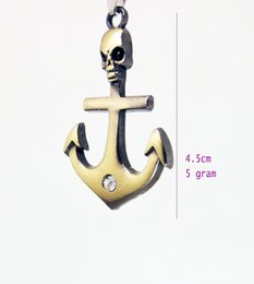 Wholesale Ship Anchor Silver Jewelry - Free Shipping Wholesale Elegant Anchor Pendant Bronze and Silver Sports Component Fit Necklace Making DIY Jewelry Accessory