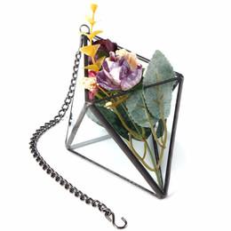 Wholesale Glass Crafts Vase - Lovely Irregular Glass Geometric Terrarium Box Tabletop Succulent Flower Plant Planter Vase Pot Glass Crafts Home Wedding Decor