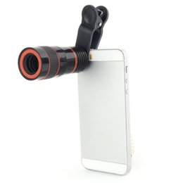 Wholesale Telescope For Mobile Phone - Free DHL 8x Zoom Telescope Telephoto Camera Lens for Samsung S6 Note 5 for iphone 6 Plus Mobile Phone