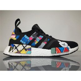 Wholesale Wholesale For Sports Shoes - Top Quality KAWS X NMD S31526 Boost Originals NMDs Black Men Sport Shoes Kaws Running Shoes for Women Outdoor Sneakers