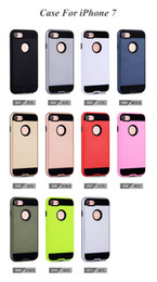 Wholesale Ballistic For Iphone 4s - For Iphone 7 Plus 6 6S Plus 5 5S SE 4 4S Brushed Armor Rugged Case Ballistic Shockproof Hard PC+Soft TPU Hybrid Beetle Wiredrawing Back Skin