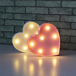 Wholesale Led Love Sign - Small Love Heart Sign Led Nightlight Battery operated Red pink white Warm white Letter light Desk Night Lamp For Kid Gift Wedding Decoration