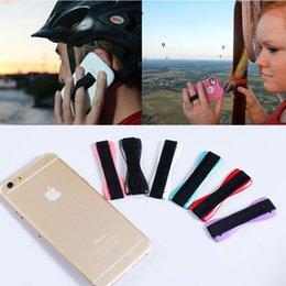 Wholesale Iphone Holders For Belt - Mobile Phone Finger Grip Smart Slim Secure Holder Handle Elastic Belt Phone Strap for iPhone Samsung smartphone tablet