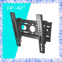 "Wholesale 17 Panel - Monitor Mounting Brackets Slim LED LCD Tilt TV Wall Mount Bracket 14 17 19 20 24 26 27 32 37 40 42"" Inch 01"
